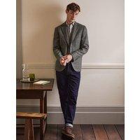 Caldey British Tweed Blazer Charcoal Windowpane Boden, Charcoal Windowpane