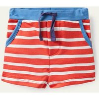 Essential Jersey Shorts Fire Red/Ivory Baby Boden, Fire Red/Ivory