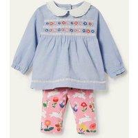 Woven Top and Leggings Set Pink Lemonade Bunny Baby Boden, Pink Lemonade Bunny