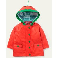 Shower-resistant Raincoat Red Baby Boden, Red
