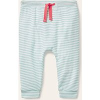 Organic Newborn Trousers Frosted Blue/Ivory Baby Boden, Frosted Blue/Ivory