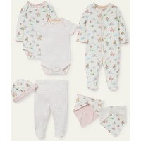 Organic Pets 7 Piece Gift Set Ivory Floral Pets Baby Boden, Ivory Floral Pets