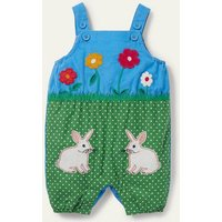Bunny Scene Dungarees Blue Baby Boden, Blue