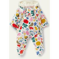 Harvest Cosy Pram Suit Ivory Forest Friends Baby Boden, Ivory Forest Friends