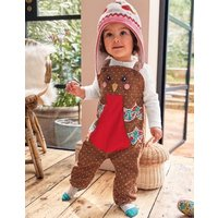 Novelty Dungaree Play Set Terrier Brown Robin Baby Boden, Terrier Brown Robin.