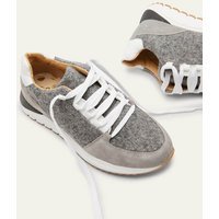 Classic Trainers Grey Marl Melton/Grey Suede Women Boden, Grey Marl Melton/Grey Suede