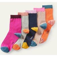 Five Pack Ankle Socks Plain Women Boden, Plain