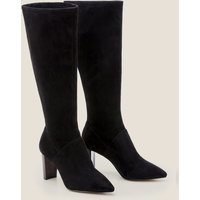 Pointed Toe Stretch Boots Black Women Boden, Black