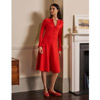 Abercorn Knitted Dress Cherry Red Boden, Cherry Red