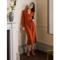 Harriet Knitted Midi Dress Rust Boden, Rust