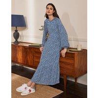 Embroidered Jersey Midi Dress Galaxy Blue, Cheetah Geo Women Boden, Galaxy Blue, Cheetah Geo