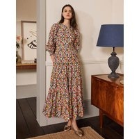 Tiered Maxi Dress Cherry Red, Paintbox Ditsy Boden, Cherry Red, Paintbox Ditsy