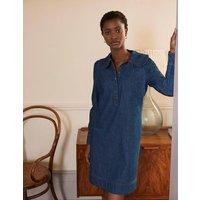 Statement Collar Denim Dress Mid Vintage Denim Boden, Mid Vintage Denim