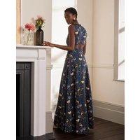 Back Detail Maxi Dress Night Blue, Bird Tree Women Boden, Night Blue, Bird Tree