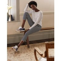 Favourite Cropped Leggings Navy and Ivory Stripe Boden, Navy and Ivory Stripe