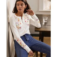 Somerset Embroidered Cardigan Ivory Women Boden, Ivory