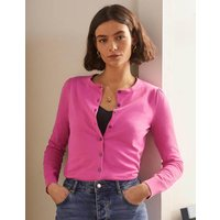 Cotton Crew Cardigan Candy Pink Women Boden, Candy Pink
