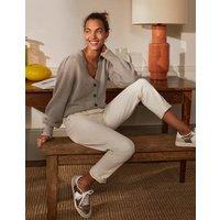 Cashmere Pleat Detail Cardigan Grey Agate Women Boden, Grey Agate