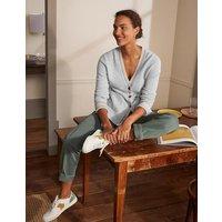 Cashmere Cuff Detail Cardigan Quartz Grey Women Boden, Quartz Grey