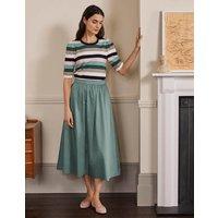 Cotton Sateen Skirt Heath Women Boden, Heath