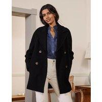 Textured Wool Car Coat Black Women Boden, Black