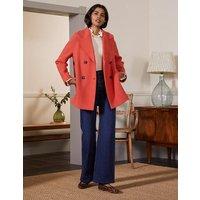 Textured Wool Car Coat Cherry Red Women Boden, Cherry Red
