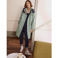 Bamburgh Raincoat Sage/Navy Women Boden, Sage/Navy