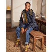 Bamburgh Raincoat Navy/Khaki Women Boden, Navy/Khaki