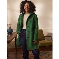 Cambridge Textured Coat Conifer Women Boden, Conifer