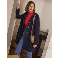 Cambridge Textured Coat Navy Women Boden, Navy