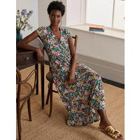 Eleanor Jersey Midi Dress Black, Jungle Floral Women Boden, Black, Jungle Floral