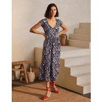 Voop Cotton Tiered Dress Navy, Kaleidoscopic Floral Women Boden, Navy, Kaleidoscopic Floral