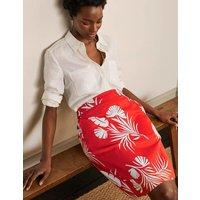 Danby Pull On Mini Skirt Cherry Red, Jungle Bouquet Women Boden, Cherry Red, Jungle Bouquet