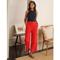 Cornwall Linen Trousers Cherry Red Women Boden, Cherry Red