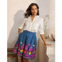 Sasha Embroidered Skirt Aircraft Women Boden, Aircraft