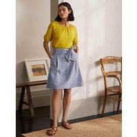 Tie Waist Slouchy Skirt Chambray Women Boden, Chambray