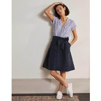Tie Waist Slouchy Skirt Navy Women Boden, Navy