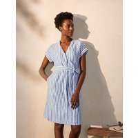 Evie Linen Shirt Dress Summit Stripe Boden, Summit Stripe