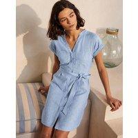 Evie Linen Shirt Dress Chambray Boden, Chambray