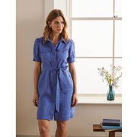 Carrie Linen Shirt Dress Delave Women Boden, Delave