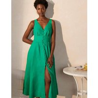 Jemima Linen Midi Dress Highland Green Women Boden, Highland Green