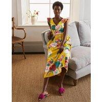 Andrea Frill Sleeve Maxi Dress Daffodil, Holiday Tropic Women Boden, Daffodil, Holiday Tropic