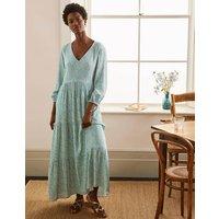 Blouson Sleeve Maxi Dress Leafy Green, Meadow Spot Boden, Leafy Green, Meadow Spot