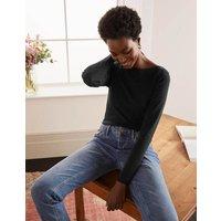 Essential Boatneck Black Women Boden, Black