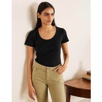 Essential Short Sleeve Tee Black Women Boden, Black