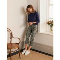 Favourite Cropped Leggings Alder and Navy, Leopard Sketch Women Boden, Alder and Navy, Leopard Sketch