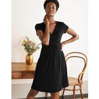 Lola Black Jersey Wrap Dress Black Women Boden, Black
