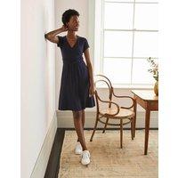 Lola Navy Jersey Wrap Dress Navy Women Boden, Navy