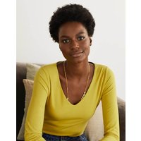 Double Layer V-neck Top Chartreuse Women Boden, Chartreuse