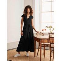 Eleanor Jersey Midi Dress Black Women Boden, Black